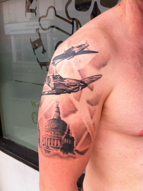 Spitfire Plane Tattoo Neill Spitfire Tattoo