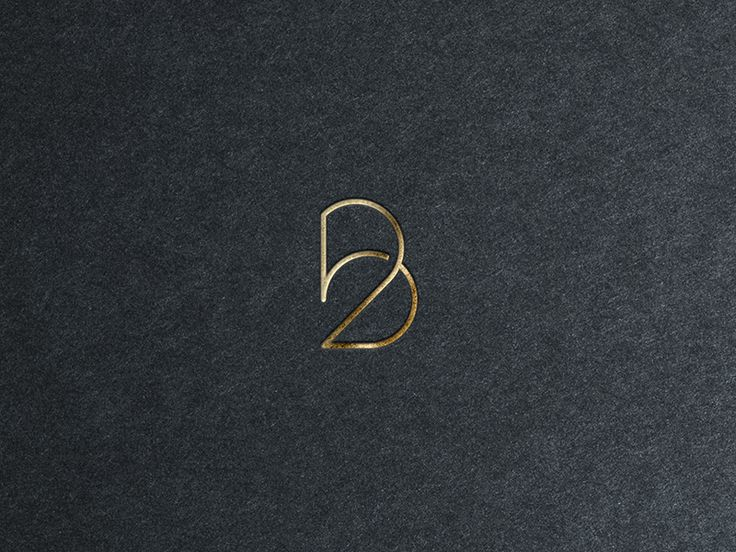 The number 2 and the letter B in a single minimalistic monogram (BB is my initials)