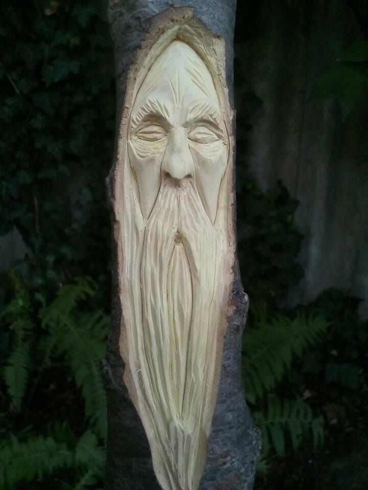 #woodspirit, #woodcarvings
