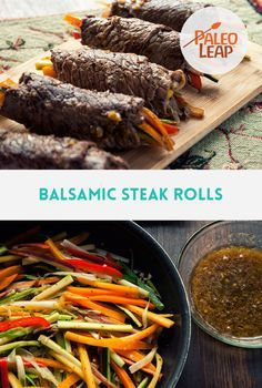 Balsamic Steak Rolls