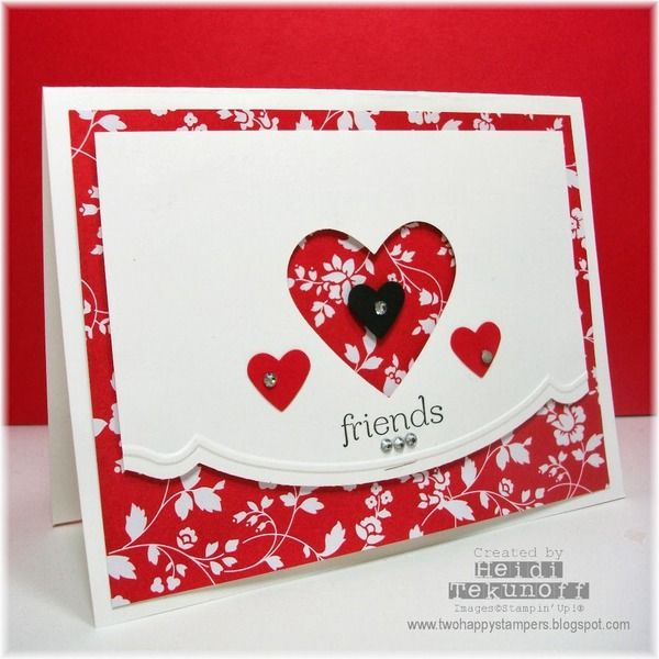 878 best images about Cards Hearts – Valentine Heart Cards