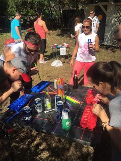 Beer Olympics event: ice cube tray --drink all the beer out of your tray with a straw