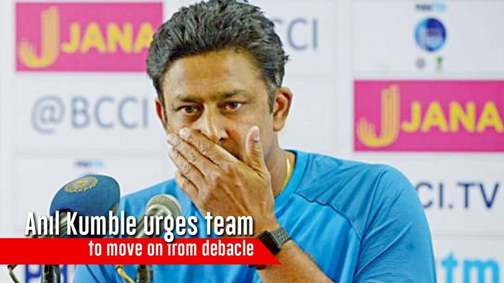 Anil Kumble urges team to move on from debacle
