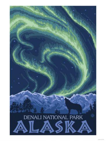 Denali, Alaska, National Park Poster