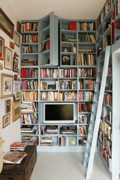 Secret passageway up high in the library