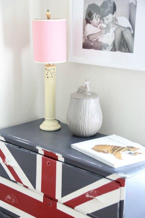 painted furniture union jack autumn vignette. Union Jack Dresser Painted Furniture Autumn Vignette .