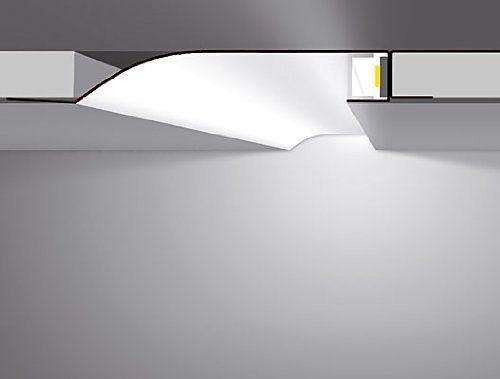 LED Profil für Gipskarton R Version 2m zur indirekten Led Beleuchtung