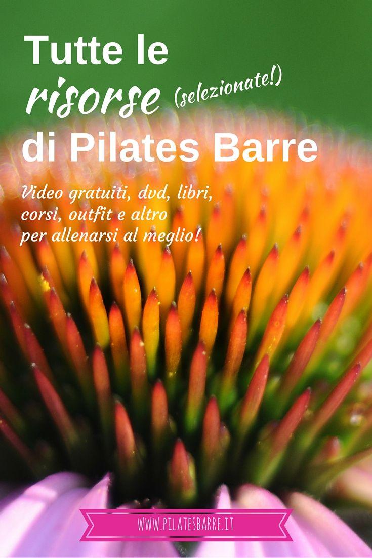 Tutte le risorse (selezionate!) di Pilates Barre  Video gratuiti, dvd, libri, corsi, outfit e altro per allenarsi al meglio!  http://www.pilatesbarre.it/2016/02/07/le-risorse-migliori-di-pilates-barre/