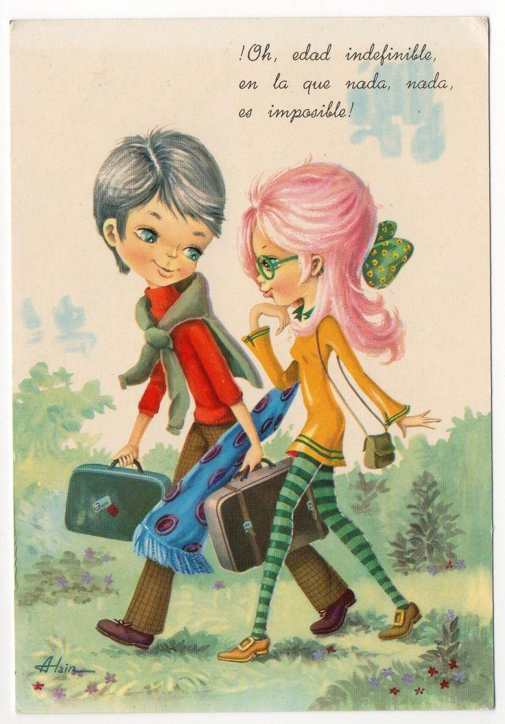 670 mejores im genes sobre postales de mi infancia en - Ilustraciones infantiles antiguas ...