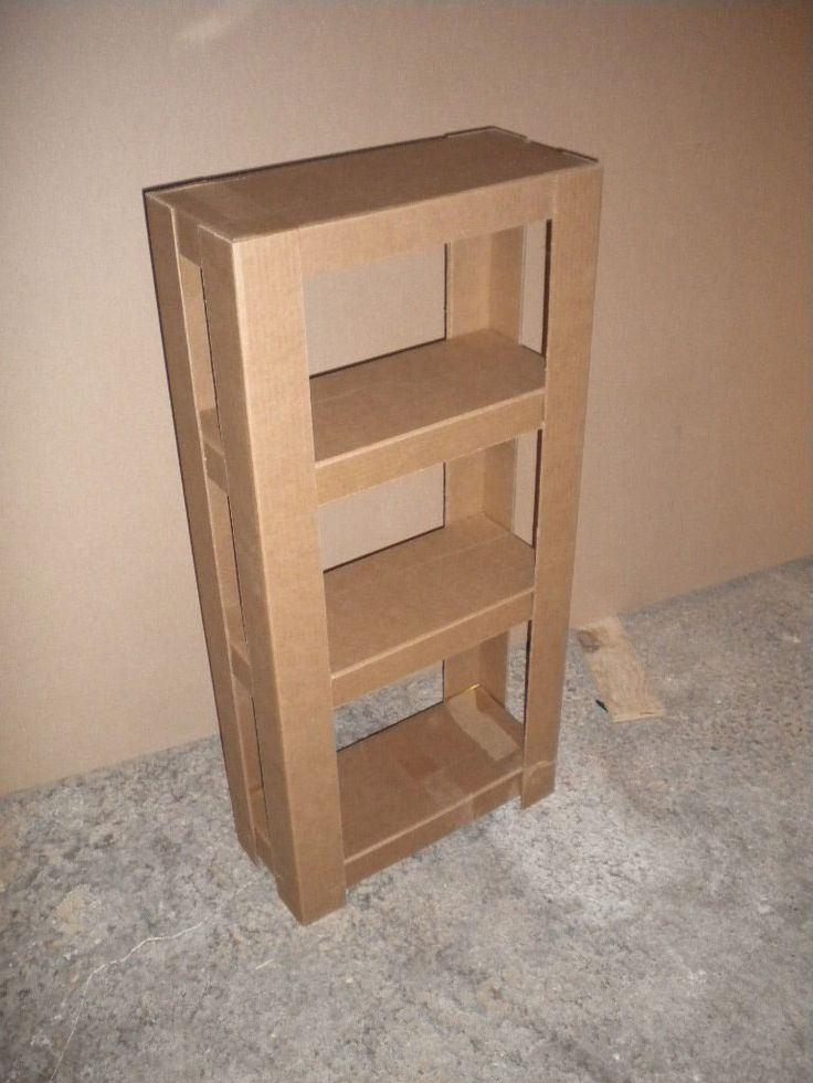DIY Cardboard Shelves Tutorial