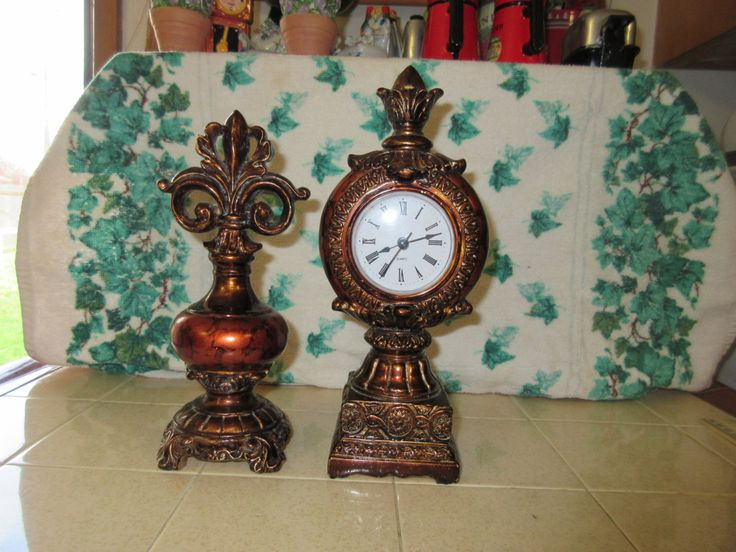 Vintage Mantle Clock and Book End by thevillagemagpie on Etsy