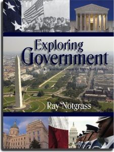 """""""Exploring Government"""" is a one-semester high school course that provides a half-year credit in government. Lessons cover Federal, state, and local government and also contemporary issues in government. Special emphasis is placed on the Biblical basis for government and on the U.S. Constitution."""