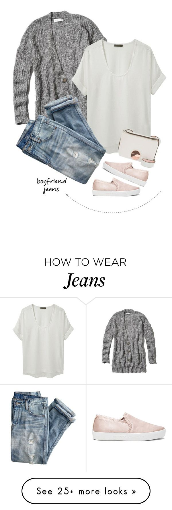 """boyfriend jeans"" by tawnee-tnt on Polyvore featuring Abercrombie & Fitch, Richard Chai Love, J.Crew, Joie, Calvin Klein and boyfriendjeans"