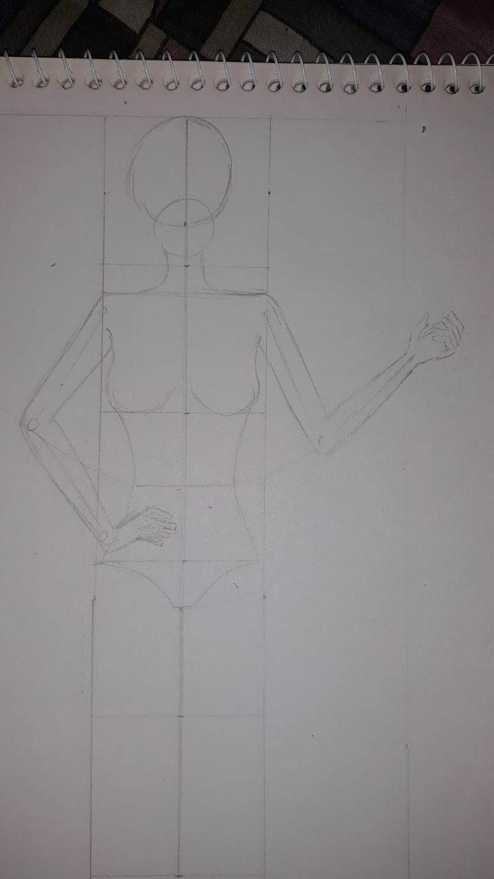 تعليم رسم تصميم الأزياء للمبتدأين يناير 11 2020 في 12 09 Am متل ما تعودنا نترك بالورقة ١ سم من فوق و١ سم من الاسفل باقي طول الورقة نقسمهم Context
