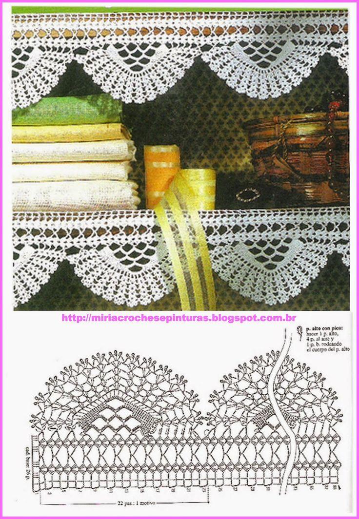 MIRIA CROCHÊS E PINTURAS: BARRADOS DE CROCHÊ N° 613