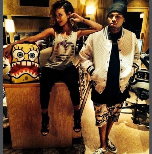 Chris Brown and Karrueche Tran on Instagram