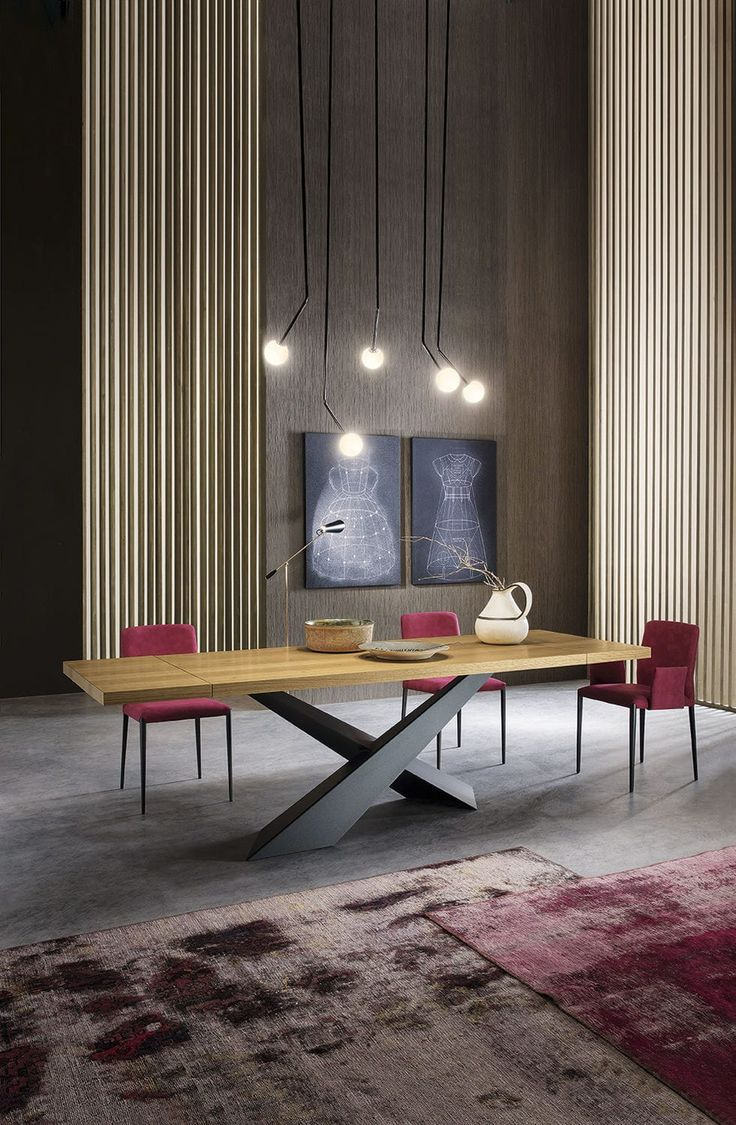 Table à manger / rectangulaire / intérieure / contemporaine - LIVING - Riflessi