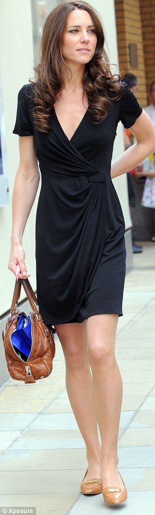 Kate in a sleek black dress while shopping a couple of days before her wedding earlier this year