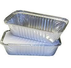 Deli Supplies 500x Aluminium Foil Containers & Lids Size 6A Trays Tray…