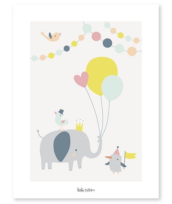 <h3>Affiche enfant Animals party</h3><p><strong>Affiche d