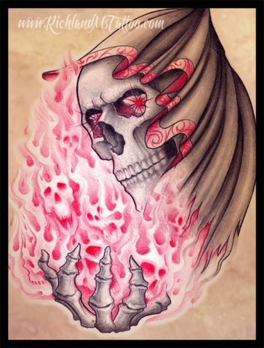 1000 images about ink on pinterest skull tattoos grim for Skull fairy tattoos