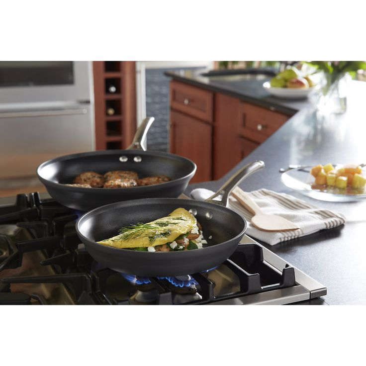 Calphalon� Contemporary Nonstick 10-Inch and 12-Inch Omelet Pan Set