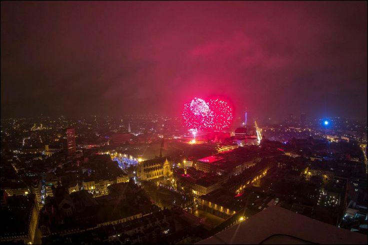 Feu d'artifice - vuurwerk - fireworks 01.01.14 © Eric Danhier