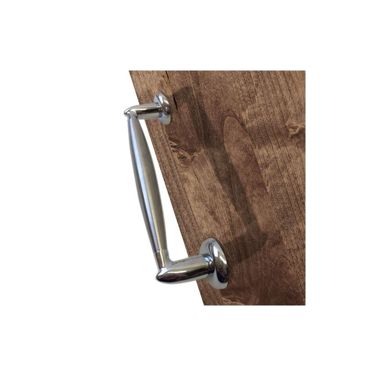M-190-SN/CP Latina Mediterranean Pull handle - Satin Nickel - Polished Chrome. #pullhandle #doorhandle #modernpullhandle