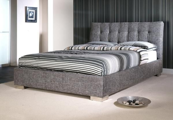 Instrument Mergozzo Slate Grey And Chrome Bed Frame Great Quality