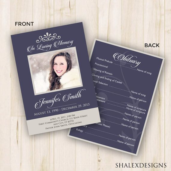 51 best Funeral Program Templates images on Pinterest Templates - funeral template download
