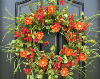 Spring/Summer Wreaths Summer Sale WreathsWreath por twoinspireyou