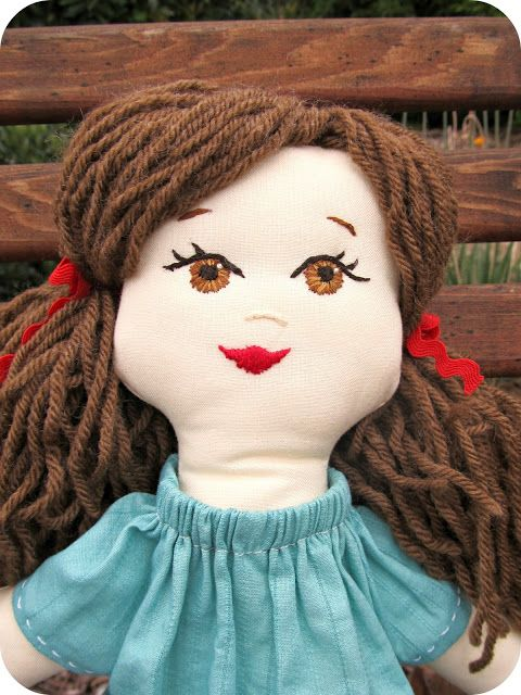 rag doll ideas embroidered face