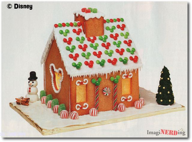 detailed directions for make-your-own Mickey Mouse gingerbread house-- CUTE!