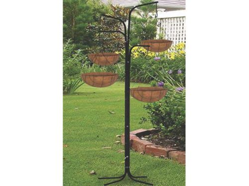 Nice New Garden 4 Arm Cascade Hanging Tree Planter Basket Patio Plant Stand Patio