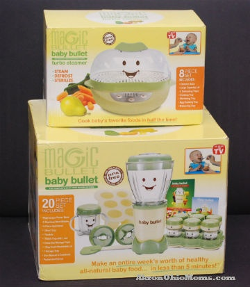 Baby Bullet and Baby Bullet Steamer - I LOVE LOVE LOVE this! My mom got me this for my baby shower & its saved me soooo much money already!  The steamer will even cook hard eggs!