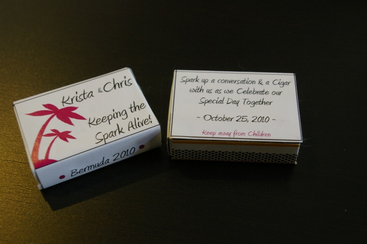 ~ I help a dear friend with items for her wedding.  Match box labels ~