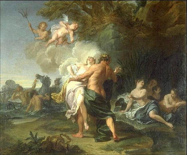 The abduction of Amyone by Neptune, Noël Nicolas Coypel