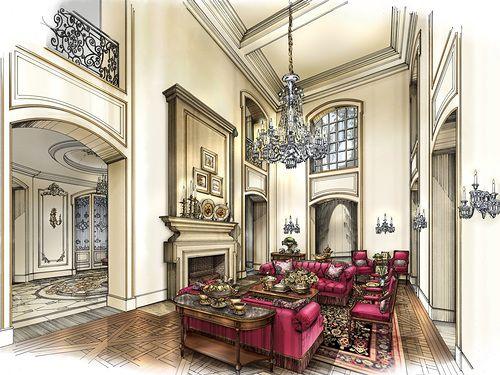 David Desmond Interior Design #дизайнинтерьера #ручнаяподача #маркер #скетч #интерьер #designinterior #marker #sketches #interior #Interiorrendering #renderbyhand