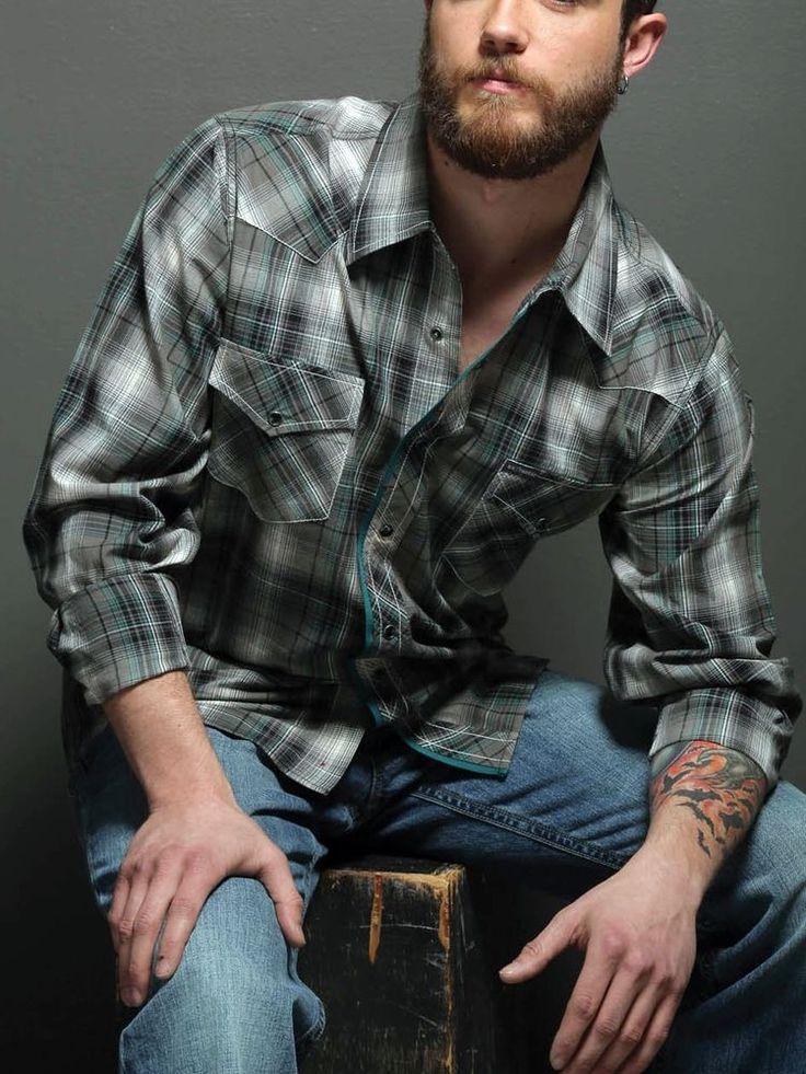 29 Southern Thread Mens Ls Cowboy Rodeo Western Plaid