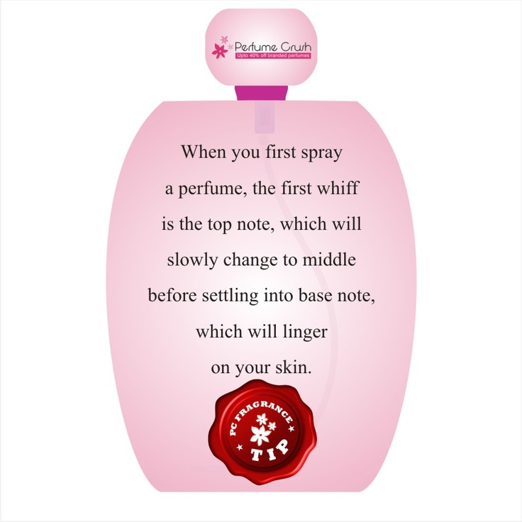 Are you aware of the top, middle and the base note in a perfume? And how exactly do they work?
