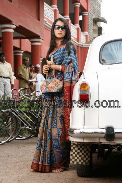 Trisha in Pochampally Saree | Saree Blouse Patterns
