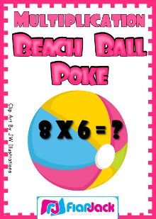 Multiplication Poke Game FREEBIE! Self-checking and great for end-of-the-year math centers.