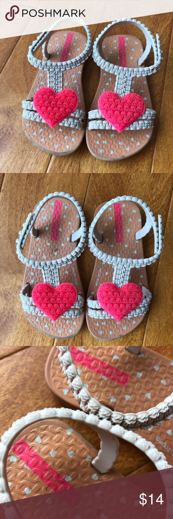 Ipanema, ipanema Toddler Sandals, hearts, size 6 Ipanema, ipanema Toddler Sandals, hearts, size 6 Gently used. Super cute designer slippers. Ipanema Shoes Sandals & Flip Flops
