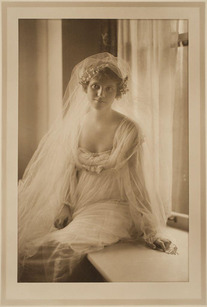 Untitled (bridal portrait),1910s. Photograph by Martin Schweig, Image © Harvard Art Museums.  http://www.harvardartmuseums.org/art/155657