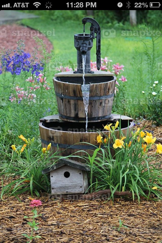 Yard fountain!