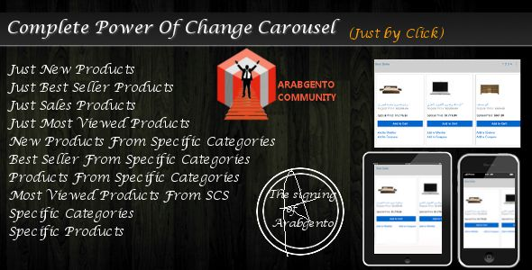Complete Power Of Change Carousel (Magento Extensions)