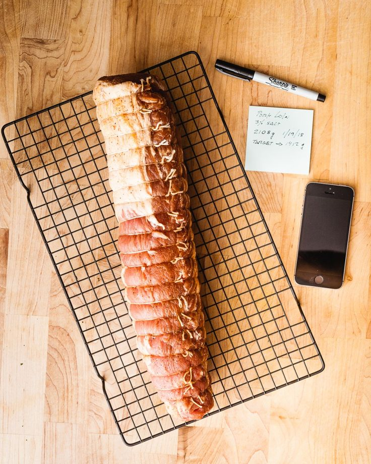 Homemade drycured pork loin thatothercookingblog in