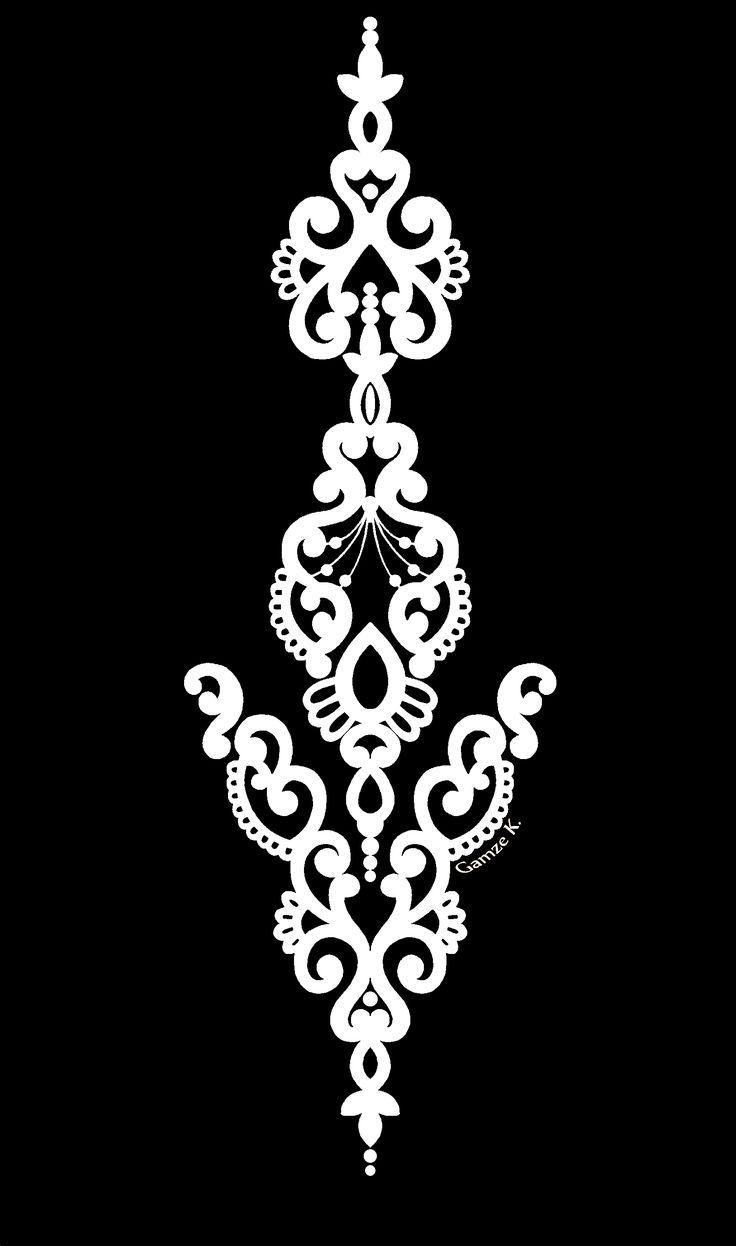 Handmade Damask Design
