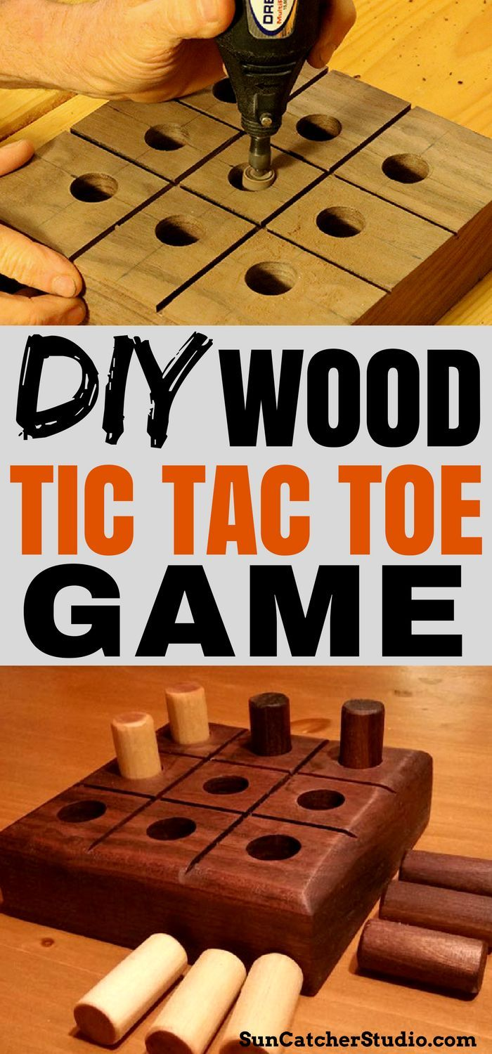 Woodworking: Learn how to make your own wooden Tic Tac Toe game!