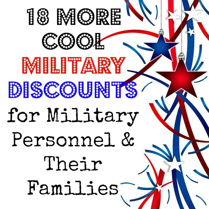18 More Military Discount Finds For Military Personnel & Their Families